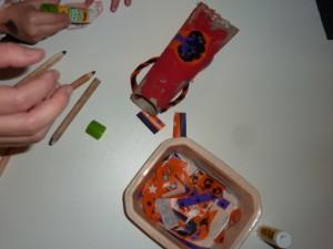 préparation sac à bonbon étape 2 à la crèche la Fée des Sourires