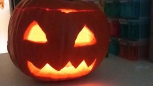 Citrouille d'Halloween à la crèche de Dijon